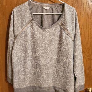 Gray lace Sweatshirt